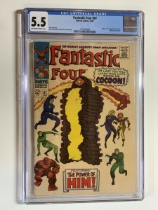 Fantastic Four 67 Cgc 5.5 Ow/w Pages Marvel Silver Age