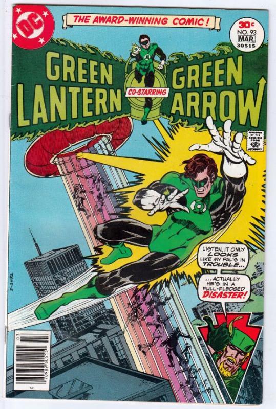 Green Lantern #93 (Jun-77) VF/NM High-Grade Green Lantern, Green Arrow, Black...