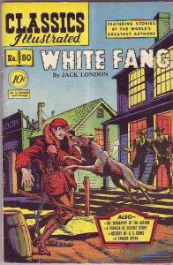 Classics Illustrated #80 (Feb-51) VG+ Affordable-Grade White Fang