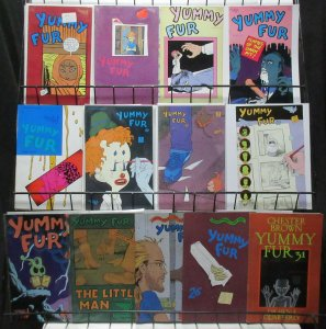 Yummy Fur (Vortex) #1-31 Lot of 13Diff Short Hilarious Gross Chester Brown Comix