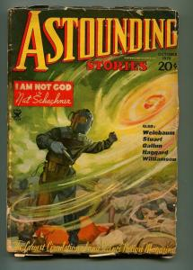 ASTOUNDING OCTOBER 1935-STREET AND SMITH-HOWARD BROWN-JACK WILLIAMSON-VG-