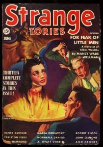 STRANGE STORIES 1939 JUN-STRANGE SEVERED HEAD/BAT COVER VG/FN