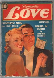 Romantic Love 9/1940-pin-up girl portrait cover-spicy pulp thrills-Pre WWII-G