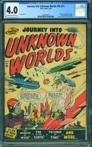 Journey into Unknown Worlds #1 (Atlas, 1950) CGC 4.0
