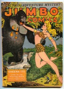 Jumbo Comics #60 1944- SHEENA v Ape cover G+