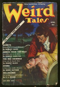 WEIRD TALES 04/1939-PULP HORROR-ROBERT BLOCH-VIRGIL FINLAY-LOVECRAFT-good/vg