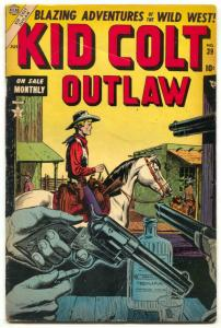 Kid Colt Outlaw #39 1954- Black Rider- Tequila Cover VG+