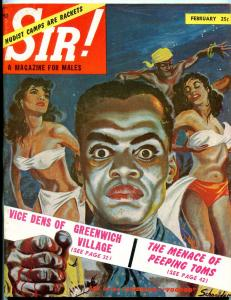 SIR! Magazine November 1954-PEEPING TOMS-NUDIST CAMPS-EGYPTIAN SEX FN