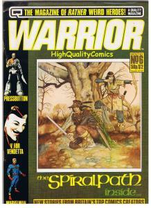 WARRIOR #6, Magazine, FN, V for Vendetta, Miracleman, Alan Moore, Dillon, 1982