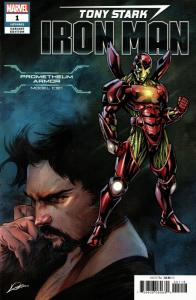 Tony Stark Iron Man #1 Prometheum Armor Variant (Marvel, 2018) VF/NM