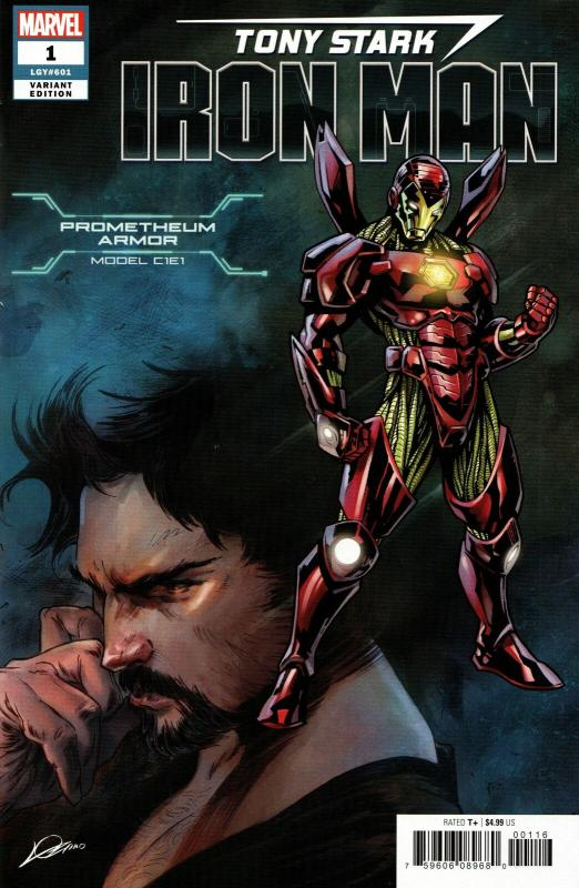Tony Stark Iron Man #1 Prometheum Armor Variant (Marvel, 2018) VF/NM