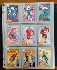 1991 DC: COSMIC TRADING CARDS COMPLETE SET, #1-180 (OVER 400) - NM/M!