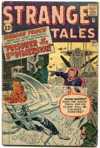 Strange Tales #103 1962- Human Torch- Jack Kirby Silver Age G-