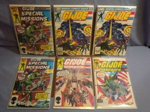 Marvel Comics GI JOE 6 Books HIGH GRADE Copper Age Yearbook Special Missions!!!