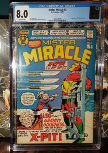 Mister Miracle #2 1971 1st Granny Goodness CGC 8.0 VF Jack Kirby New Gods Movie