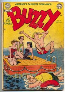 BUZZY #39 1951-DC COMICS-SWIMSUIT COVER SCRIBBLY MAYER FR