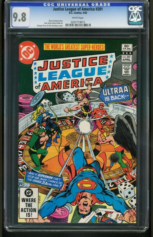 Justice League of America #201 1982-CGC GRADED 9.8 WHITE PAGES-0207119015