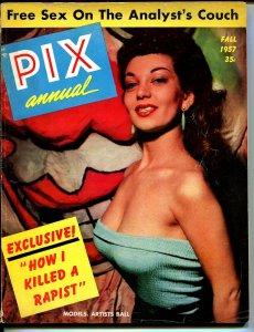 Pix Annual-Fall 1957-Exploitation-pulp fiction-cheesecake pix-Blaze Starr-VG+