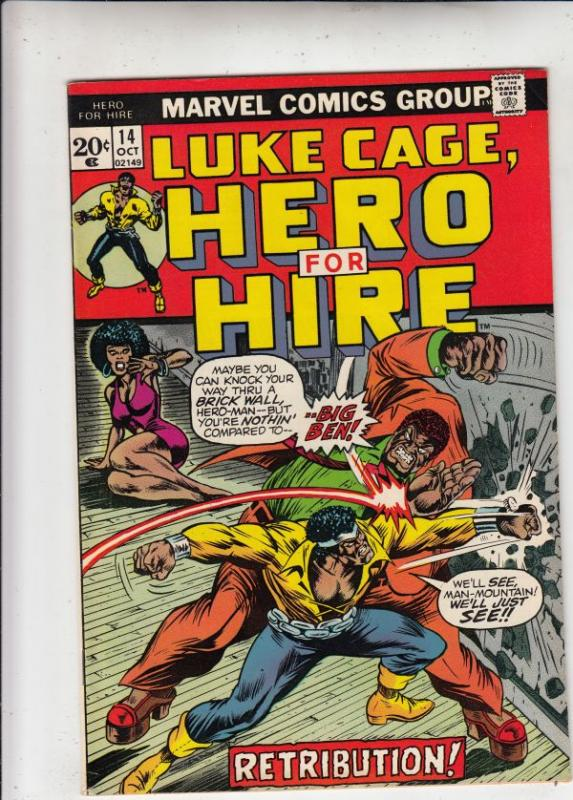 Luke Cage Hero for Hire #14 (Oct-73) NM- High-Grade Luke Cage