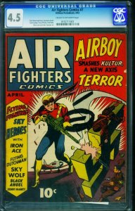 Air Fighters #7-CGC 4.5 WWII Nazi Soldier cover-0152711003