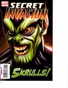 Lot Of 2 Marvel Comic Books Secret Invasion Skrulls #1 and Daredevil Saga BH52