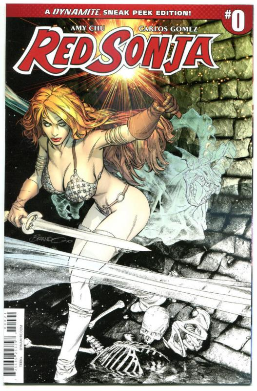 RED SONJA #0, VF/NM, Variant, Peterson, Chu, Gomez, 2016, more RS in store