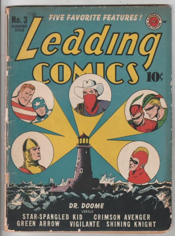 Leading Comics #3 (Jul-42) GD/VG Affordable-Grade The 7 Soldiers Of Victory (...