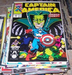 Captain America comic # 382 (Feb 1991, Marvel) cottonmouth diamondback us agent
