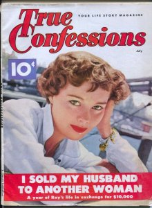 True Confessions 5/1965-pin-up girl photo cover-exploitation-spicy pulp thril...