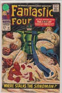 Fantastic Four #61 (1967) VG/FN