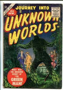 JOURNEY INTO UNKNOWN WORLDS #38 1955-ATLAS-JOHN SEVERIN-GREEN MAN-vg