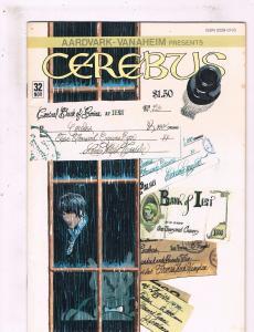 Lot Of 4 Cerebus Aardvark Vanaheim Comic Books # 32 33 34 35 Dave Sim Art BN8