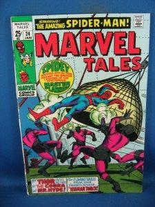 MARVEL TALES 24 VF SPIDERMAN MASTER PLANNER 1970