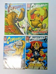 Congorilla set #1 to #4 8.5 VF+ 4 different books (1992)