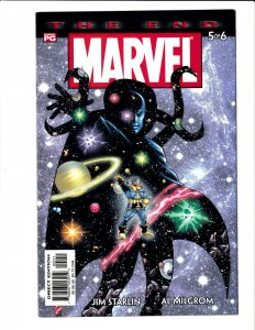 Marvel Universe: The End #5 (2003) NM 9.4 Jim Starlin Thanos cover.