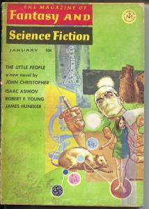 Fantasy & Science Fiction 1/1967-Mercury Press-Asimov-Gray Morrison-pulp-G