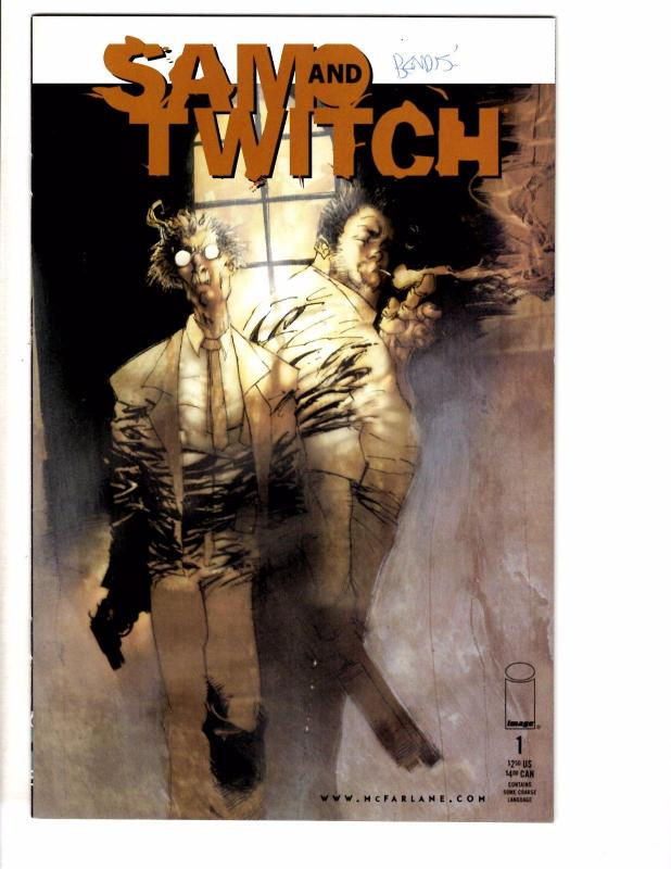 Sam & Twitch #1 NM Image Comic Book SIGNED By Brian Michael Bendis On Cover J200