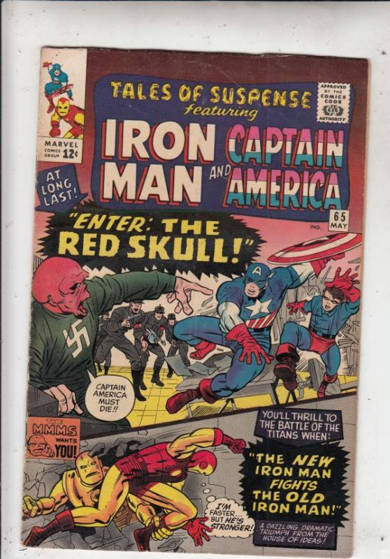 Tales of Suspense #65 (May-65) FN/VF Mid-High-Grade Iron Man, Captain America...
