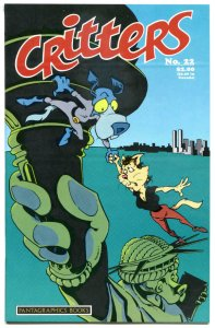 CRITTERS #22, VF, Fission Chicken, Blue Beagle, 1986, more Independent in store