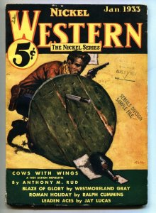 Nickel Western 1933 Jan-VERY RARE western pulp-Second issue