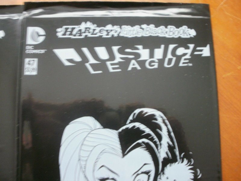 2 SEALED NEW HARLEY QUINN'S LITTLE BLACK BOOK Comic #6 (JLA) #47 (Justice League