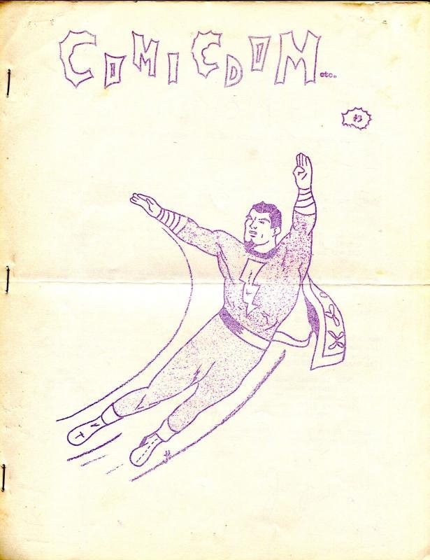 Comicdom etc. #3 1964-Jerry Rudolph-Bob Mullen-Capt Marvel-FN/VF
