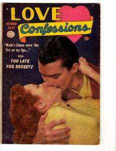 Love Confessions # 24 VG 1952 Golden Age Comic Book  J241