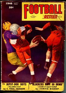 Football Action-Fall 1946-Fiction House-George Gross cover-pulp stories-VG/FN