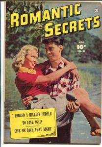 Romantic Secrets #28 1952-Fawcett-photo cover-Cary Grant-outstanding art-FN-