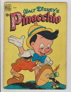 WALT DISNEY'S PINOCCHIO DELL FOUR COLOR #252 1949