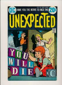 DC Comics THE UNEXPECTED #148 YOU WILL DIE  FINE 1973 (SRU368R)