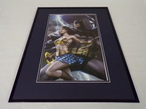 Batman Wonder Woman Framed 16x20 Poster Display DC Comics Artgerm