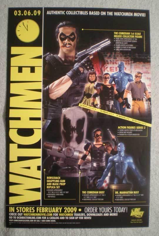 WATCHMEN ACTION FIGURES Promo Poster, 11x 17, 2009, more Promos in store
