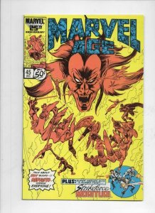 MARVEL AGE #45, VF+, Mephisto, StrikeForce, 1985 1986 more in store